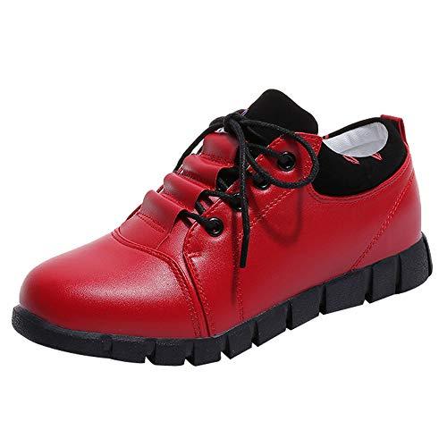 Sneaker Damen Casual, Sonnena Outdoor Laufschuhe Turnschuhe Sportschuhe Herbst Lederstiefel Schuhe Boots Sexy LBequem Schnürer Schuhe Freizeitschuhe Damenstiefel