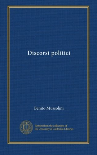 Discorsi politici (Italian Edition)