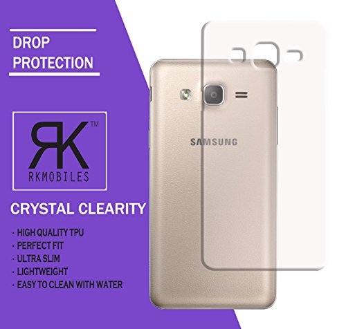 Samsung Galaxy On5 Pro or On 5 Pro Ultra Thin 0.3mm Clear Transparent Flexible Soft TPU Slim Back Case Cover (For Samsung Galaxy On5 Pro or On 5 Pro)...