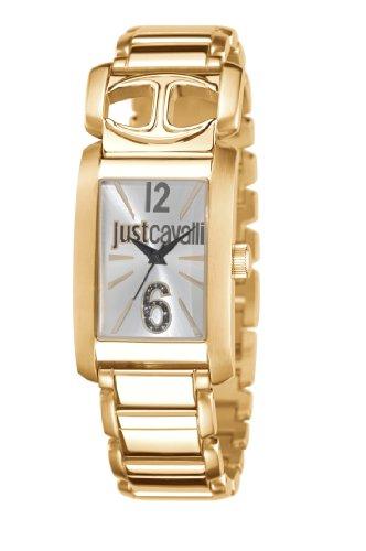 Just Cavalli Pretty R7253152503 - Reloj analógico de Cuarzo para Mujer, Correa de Acero Inoxidable Chapado Color Dorado