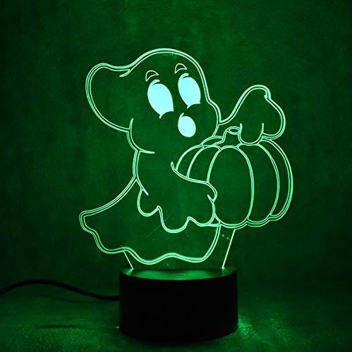 licht 3D optische Täuschung Lampe Usb Led Visuelle Bady Nachttisch Stimmung Geschenk Kürbis Phantoms Kreative Vogel Geist Leuchte ()