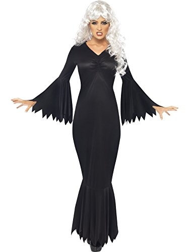 Ladies Halloween Midnight Vamp Fancy Dress Outfit, Sizes 8 - 22 (Women: ()