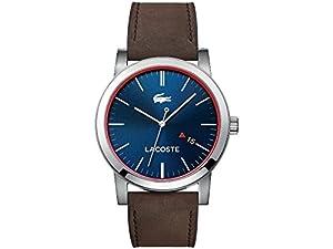 Caballeros-reloj Lacoste metro análogo de cuarzo cuero 2010848 de Lacoste