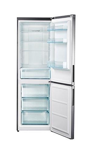 Bakaji Kühlschrank Unten Oben Total No Frost Energie A + Daya Home appliace Kapazität 317LT Silver mit Display DHC