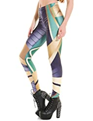 Smile YKK mujeres cintura alta Fitness Yoga deporte pantalones Stretch recortada Leggings