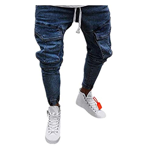 Männer Kostüm Asiatische Für - Dasongff Hose Herren Jeans Groß Größe Freizeithosen Männer Hosen Slim Fit Distressed Jeans-Hose Trekkinghose Casual Trainingshose Sporthosen Vintage Trousers