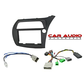 Autoleads T1-CTKHD01 Hatchback 06≫ Double Din Facia In Black, Aerial Adapter & Steering Wheel Control Interface (Swc) Kit