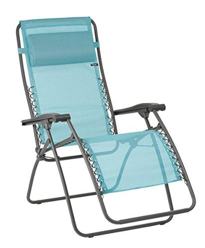 Lafuma Relax-Liegestuhl, Klappbar und verstellbar, Mit Schnürsystem, RSXA, Batyline, hellblau