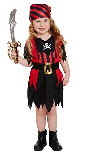 Girls Toddler Pirate Fancy Dress Costume (disfraz)