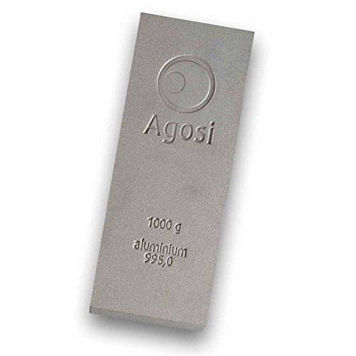 1000g Buntmetallbarren von Agosi Kupferbarren Messingbarren Bronzebarren Aluminiumbarren Titanbarren (Aluminiumbarren)