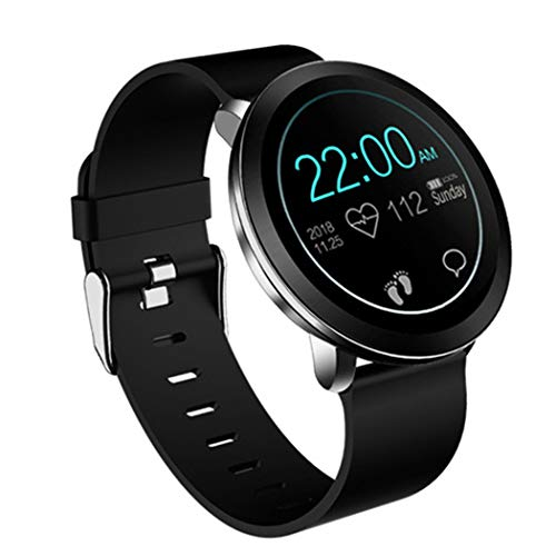 1,3-Zoll-IPS Farbe Touch-LCD-Bildschirm, Herzfrequenz und Schlaf Schrittzähler Fitness Tracking Watch für iOS Android Phone-A ()