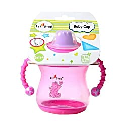 1St Step 2 Handle Cup 6M+,Pink