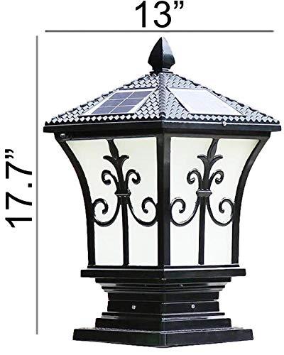 Heimatstadt Markt die Stilvolle Extra Großen Solar Post Cap Lights Oder Solar Säule, Durchmesser: 24cm; Höhe: 45cm. Solarbetrieben Pfostenkappen. Solar Post Cap Schwarz - Solar Powered Post Caps