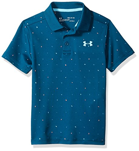 Under Armour Kinder Performance Polo Novelty Kurzarmshirt, Techno Teal/Venetian Blue (489), YXL