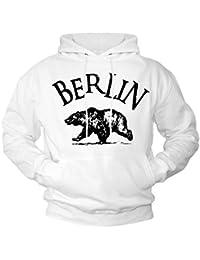 Sudadera blanca con capucha - BERLIN