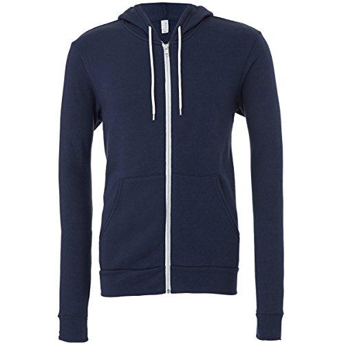 Unisex Polyester / Baumwolle Fleece Full Zip (Zip Full Maske Hoodie)
