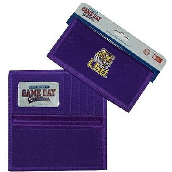 NCAA LSU Fightin Tigers Ladies Wallet with Checkbook Holder by Game Day Outfitters