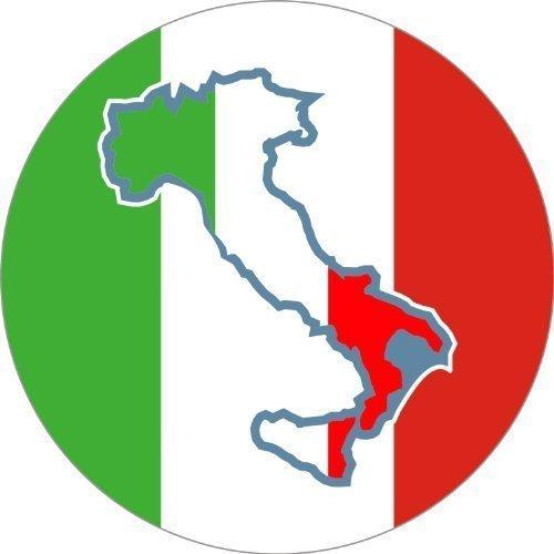 Adesivo 25mm diametro Italia con stivali 5stk. nel Set