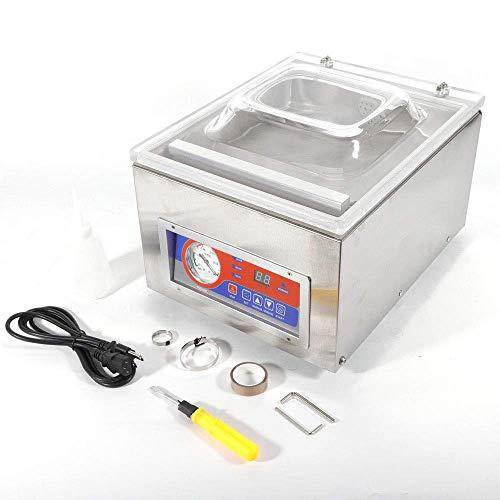 DiLiBee DZ-260C 120W 20cbm Tisch Vakuumierer Vakuumiergerät Profi Folienschweißgerät Vakuummaschine Edelstahl für Lebensmimittel Präzises Instrument Seltenes Metall usw
