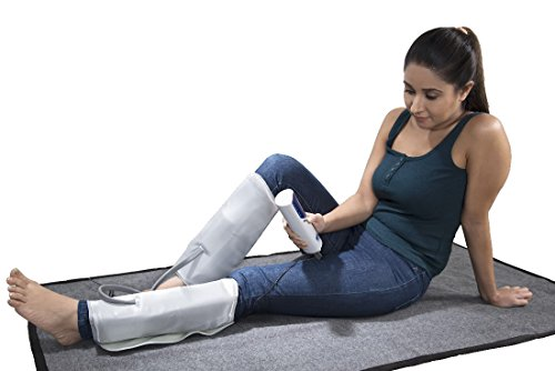 JSB HF66 Air Compression Foot Calf and Thigh Massager with Heat (Multicolor)