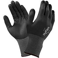 Ansell HyFlex 11-840-Guanti multiuso con manico maglia, nonché alla linea di demarcazione e all'abrasione, colore: grigio (Confezione da 12 paia)