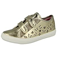 Buckle My Shoe Trent Girls Synthetic Material Trainers Gold Metallic - 12 Child UK