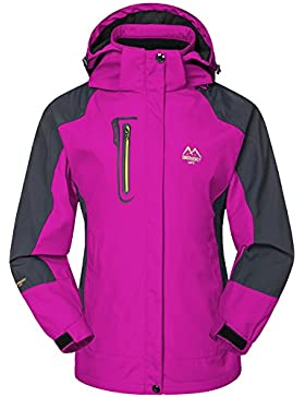 [Patrocinado]Mochoose Mujer Al Aire Libre Montaña Impermeable Windbreaker Softshell Esquí Chaqueta con Capucha Ropa Deportiva...