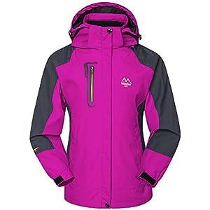 mochoose women's outdoor mountain waterproof windbreaker softshell ski hooded jacket sportwear rain coat camping fishing hunting working jacket