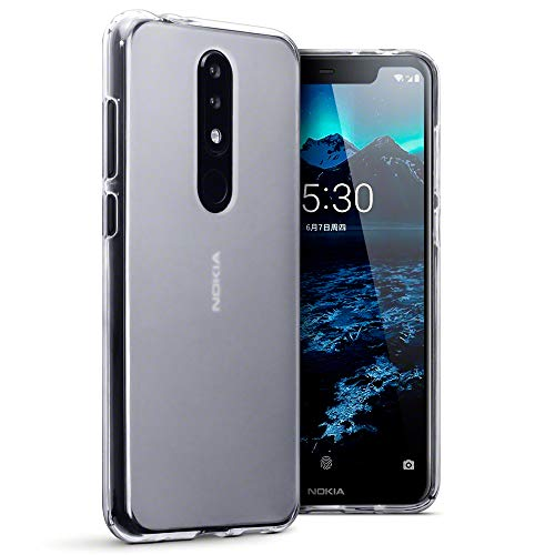 TERRAPIN Cover Nokia 5.1 Plus, TPU Gel Custodia per Nokia 5.1 Plus Skin, Colore: Trasparente