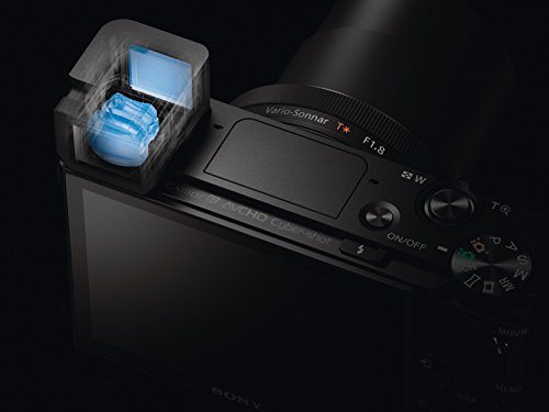"""Sony DSC-RX100M3 Fotocamera Digitale Compatta Cyber-shot, Sensore CMOS Exmor R da 1"""" e 20,1 Megapixel, Obiettivo Zeiss Vario-Sonnar T* con Zoom Ottico 2,9x, Nero"""