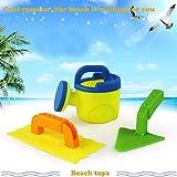 Dapei Strandspielzeug - Set di 3 accessori per la sabbia, annaffiatoio, forma a sabbia, paletta, sabbia e acqua, regalo per bambini