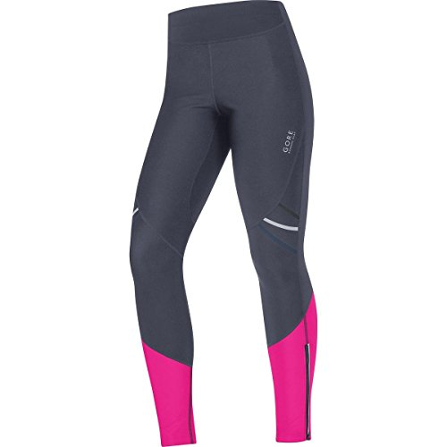 GORE WEAR Damen Kompressionswäsche Hose Mythos 2 Windstopper Soft Shell Tights Graphitgrau/Magenta, 42