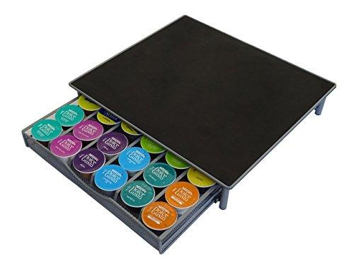 Contenitore per capsule di caffè dolce gusto cassetto e supporto, colore: argento grigio