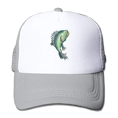 Mesh Baseball Caps Ugly and Ferocious Fish Unisex Adjustable Sports Trucker Cap