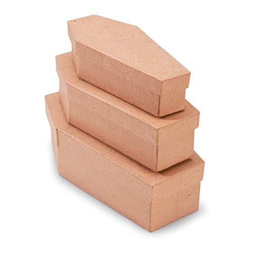 Bulk Buy: Darice DIY Crafts Papier Pappmaché Box Sarg Set 3Stück (6er Pack) 2873-315 -