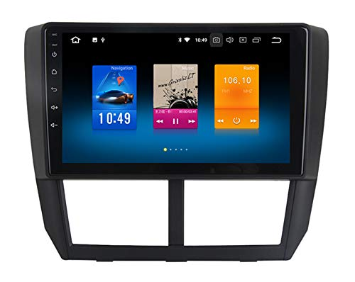 RoverOne 9 Zoll Android System Octa Core für Subaru Forester 2008 2009 2010 2011 2012 Auto Multimedia Player mit Autoradio Stereo GPS Navigation Radio Bluetooth Mirror Link Touchscreen (Subaru Navigation System)