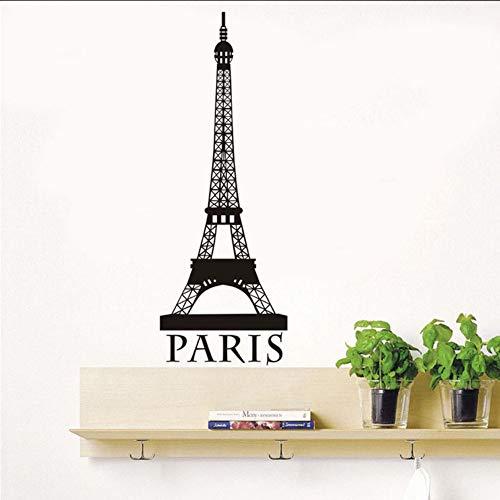 Lglays Autoadesivo Della Parete Di Arte Della Parete Della Torre Eiffel Romantica Di Parigi Per Il SaloneDecorazione Domestica Domestica Dei Ragazzi E Delle RagazzeDell'Annata