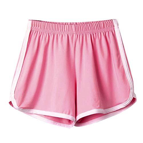 Fannyfuny Kurze Sporthose Damen Bermuda Schlafanzughose Kurz Schlafhose Pyjamahose Frauen Kurz Hosen Yoga Running Gym Beiläufige Badeshorts Wassersport Schwimmshorts Boardshorts Elastische Taille -