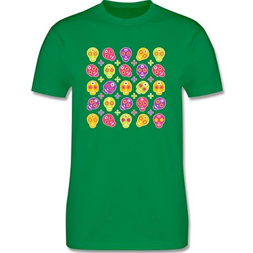 Rockabilly - Candy Skull - Herren Premium T-Shirt Grün