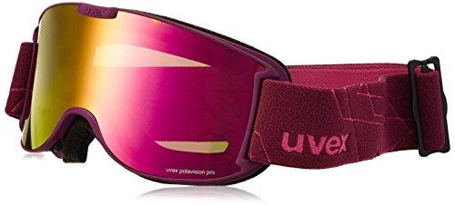 Uvex Skibrille skyper vp Aubergine Mat/Ltm Pink, One Size
