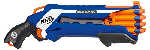 Nerf - N-Strike Elite Rough Cut lanzadardos con doble disparo (Hasbro A1691E24)