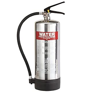 6 Litre Polished Chrome Water Fire Extinguisher