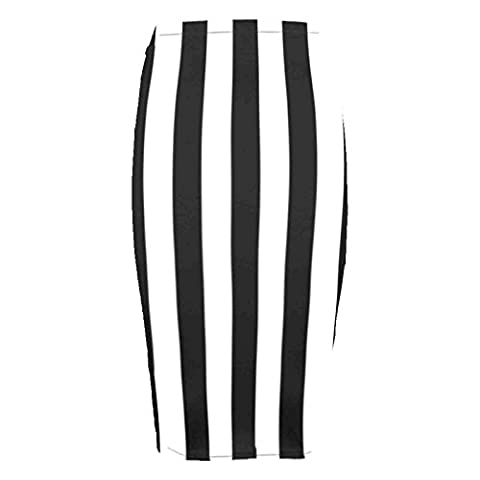 H.A.A.S® Women Printed Midi Bodycon Pencil Skirt Ladies High Waist Tube Skirt Fancy Dress (S/M (UK 8-10), Vertical Stripe)