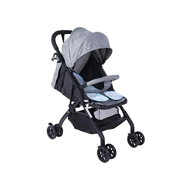 lyrlody Baby Stroller,Lightweight Twin Pushchair Detachable Double Stroller Multifunction Folding Anti-Shock Pram with Baby Cup Holder for Babies Toddlers Children Kids Grey lyrlody LIGHTWEIGHT DESIGN:2 in 1 design, can be detached and used separately.Shock resistant design can effectively prevent external shock and keep your baby's brain Durable:Made of aluminum alloy material, very sturdy.With the baby cup holder, it is convenient for your baby to drink water Very Convenient:Large capacity, can hold more items for children, such as diapers, clothes and bottles 7