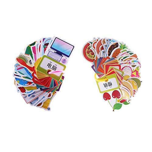 ück Lernkarten Flash Cards Kinder Frühe Pädagogisches Spielzeug Lernspielzeug Geschenk (60 Stück) ()