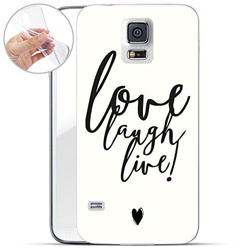 Motivo Serie 1 Custodia Rigida Iphone - You are non speciale nero, Samsung Galaxy S5 Love laugh live