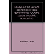 Essays on the law and economics of local governments (COUPE papers on public economics)