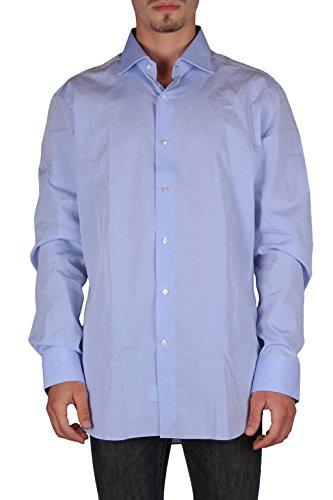 Truzzi uomo r153/ft49 camicie maniche lunghe slim fit cucita a mano azzurro 43