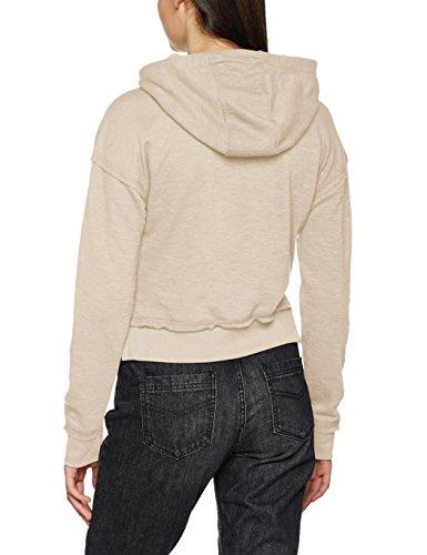 Urban Classics Damen Kapuzenpullover Ladies Short Slub Terry Hoody Elfenbein (sand 208)