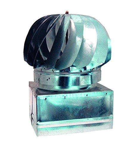 Kippen 3051b aspiratore girevole in acciaio zincato, argento